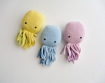 Crochet Octopus, pattern, PDF, English