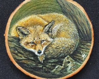 Miniature painting - Fox