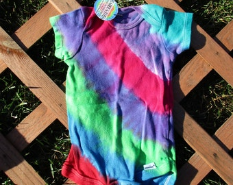 Striped Tie Dye Onesie (6-9 months)