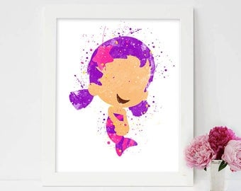 Bubble Guppies, Bubble Guppies Oona Print, Bubble Guppies Oona, bubble guppies decor, bubble guppies toddler room, Bubbletucky, Nickelodeon