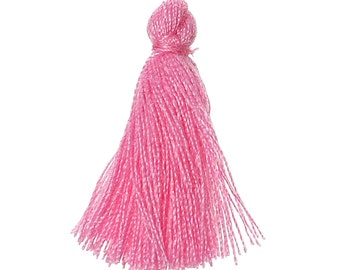 10 PomPoms Rose 25mm - Tassel pink - cotton - Rose - 25 mm Pompom Pompom Pompon
