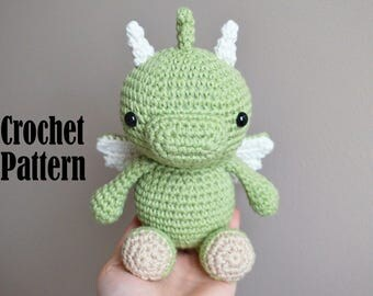 Crochet Amigurumi Pattern: Phoenix the Baby Dragon, Crochet Dragon, Stuffed Animal