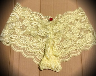 Belle Beauty and the Beast Disney Princess Lingerie Lace Panties French Knickers