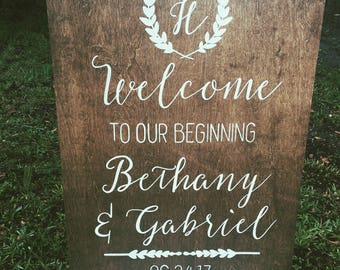 Rustic Wedding Welcome Sign, Wood Wedding Signs, Hand Painted Signs, Rustic Wood Signs, Wood Signs, Welcome Sign, Wedding Welcome Sign