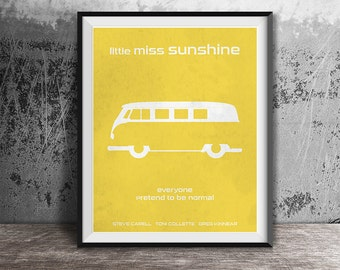 Movie poster print,Minimalistic movie poster print,Little Miss Sunshine movie poster,Printable files,Film art,Digital Instant Download