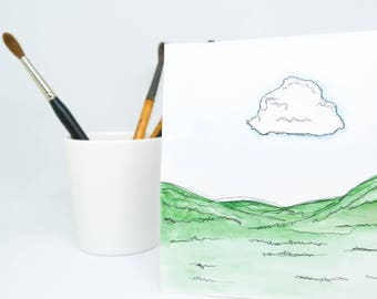 Watercolour and Ink Pen - ORIGINAL
