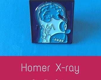 Homer Simpson X-ray crayon enamel pin
