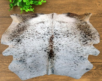 New Cow Hide RUG Area Calf Hide Animal Skin 34 Sq feet  (70'' x 70'') COWHIDE  -EH-5088