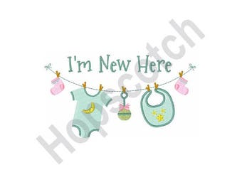 Newborn Infant Clothes On Line - Machine Embroidery Design