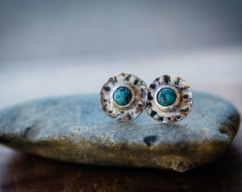 Small Turquoise statement studs