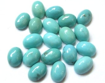 10 pieces 5x7mm Turquoise Cabochon Oval Gemstone, TURQUOISE Oval Cabochon Smooth polished gemstone, Turquoise Cabochon Oval loose Gemstone