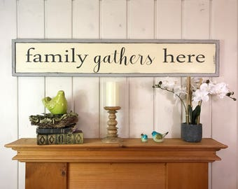 """Family gathers here sign 