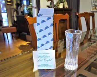 Princess House Highlights Crystal Accent Vases #871 – Art Deco Crystal Vase