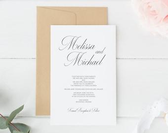 Wedding Invitations, Printable Wedding Invitations, Wedding Invitations, Invitation Suite, DIY Wedding Invitations, Invitations
