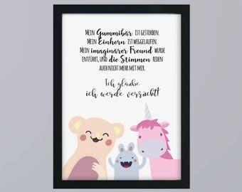 My rubber bear - unframed art print