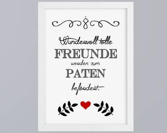 Wonderful great friends / Godfather - unframed art print