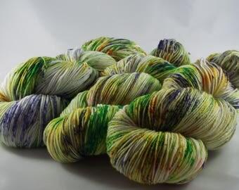 hand-dyed sock yarn, hand dyed yarn, sock yarn, Merino