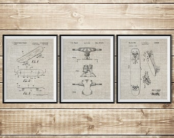 Skateboarding, Patent Print Group, Skateboard Deck, Skateboard Group, Double Kick Skate, Skateboard Brake, Skateboard Art, INSTANT DOWNLOAD