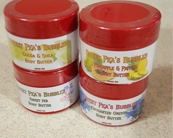 Body Butter, Cocoa Butter, Shea Butter, Orchid, Sweet Pea, Pineapple Papaya