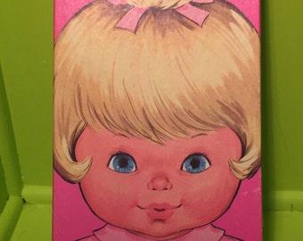1974 Baby Tender Love Paper Doll Vintage Mattel