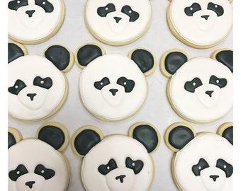 Custom Panda Sugar Cookies