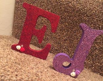 Glitter Freestanding Wooden Letters