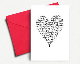 Valentine Card, Printable Love Card, Valentines Day Card, Love Card, Valentine Printable, Valentine Card Printable, INSTANT DOWNLOAD