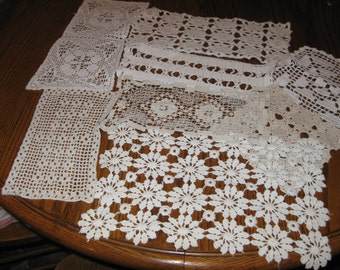 Very Nice LOT of 8 VINTAGE Cotton DOILIES!