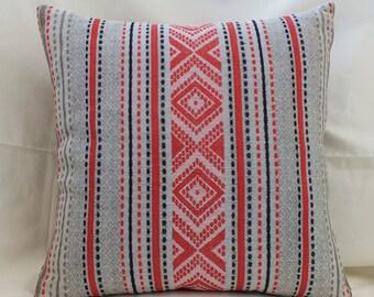 linen lumbar pillow case natural pillows grey red linen striped pillow handmade pillows