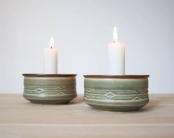 Quistgaard IHQ - Rune - Candle Holders - Bing & Grondahl Denmark - 1970s - Danish Design