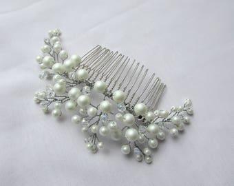 Bridal Hair Comb Wedding Pearl beaded hair comb Wedding hair accessories Bridal hair piece rhinestone