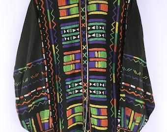 80's vintage Gianni Versace Art Print silk Shirt Blouse