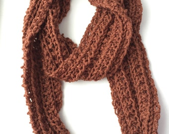 Father's Day Knitted Men's Scarf Wool Cowl Knitted Scarf Warm Scarf Neckwarmer Circle Scarf Girl Women Gift Fashion Scarf Gift for him
