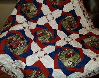 Americana Red Truck Quilt