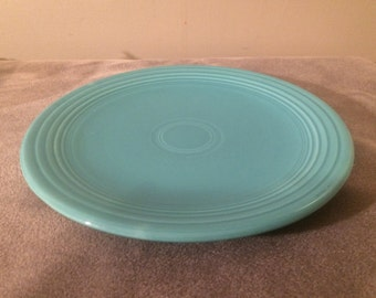 RESERVED Vintage Fiestaware 12 Inch Chop Plate in Turquois or Cobalt