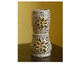 Votive Candle Holder, Handmade Mosaic Candle Holder, Candles & Holders, Tealight Holder, Glass Mosaic