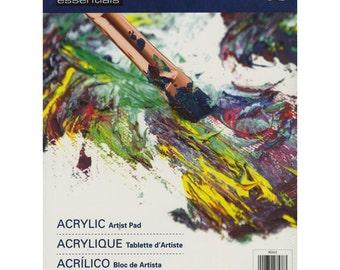 "Essentials Acrylic Artist Paper Pad 9""X12""-SHIPS FREE"