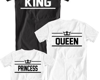 Family shirts! Set of 3! King,Queen,Princess