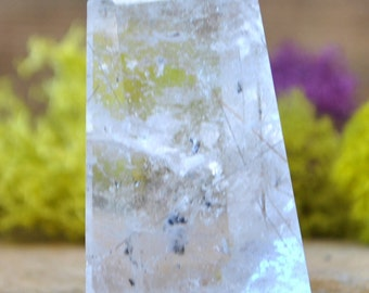 Rutilated Smoky Quartz Crystal Tower Point -  1248.129
