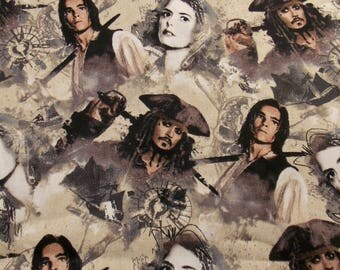 Pirates of the Caribbean Fabric Pirate Fabric Movie Fabric Johnny Depp Fabric Captain Jack Sparrow Fabric Cotton Fabric Curtain Fabric
