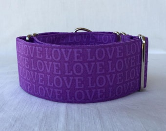L O V E  Martingale Dog Collar