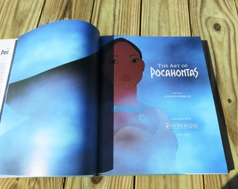 The Art of Pocahontas // Vintage Pocahontas Coffee Table Book // Large Vintage Art Book Disney