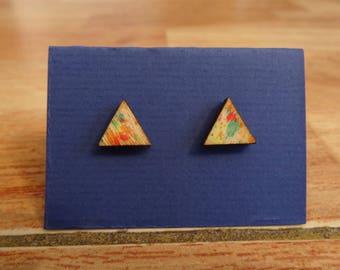 Colourful Triangle Studs