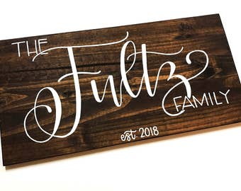 Family Last Name Sign