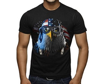 Freedom Fighter American Eagle Stare T-shirt