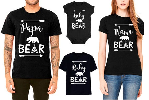 Mama Bear Papa Bear Baby Bear Family T Shirt Set Price