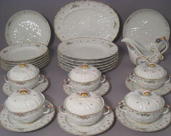 Meissen Dinner Service for 6 people Swan Pattern