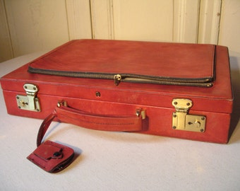 Red bordeaux Etienne Aigner leather Briefcase / luxury luggage / vintage briefcase / computer Briefcase / suitcase woman