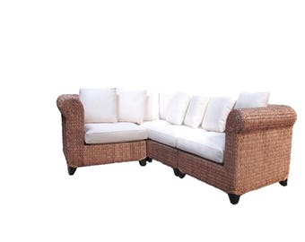 NEW ...Seagrass 4 Piece Sectional, discounted shipping to contiguous U.S.