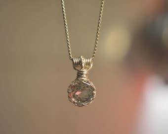 Topaz pendant 935 silver